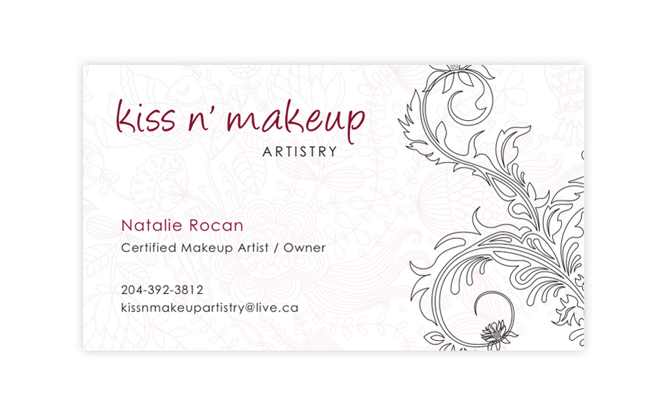 Kiss n' Makeup Artistry – Business Cards